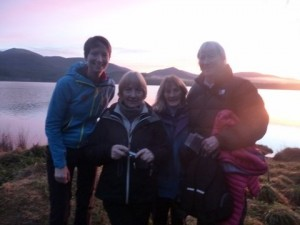 Family and friends in Scotland